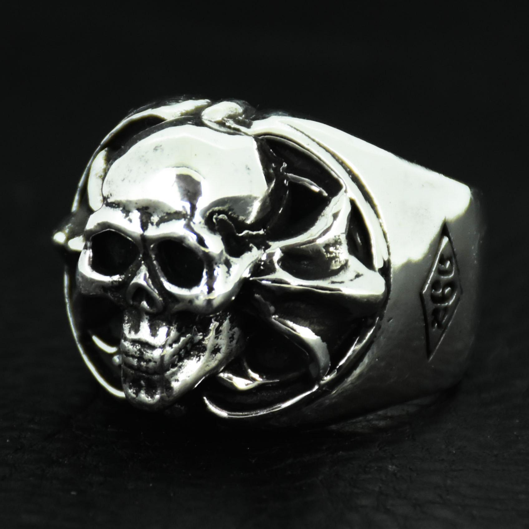 Round-Skull-Cross-Ring 画像