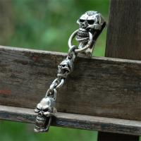 Stare Skull Clip Keychain with 1Skullの画像