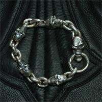 Stare Skull(L) With Skull Clip(L) Bracelet画像