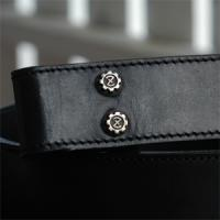 Leather Belt with 脱着式 Sunrise Buttonの画像